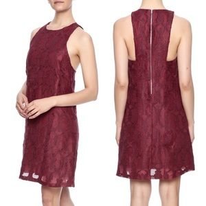 [Everly] Maroon Red Wine Lace Victoria Dress Small